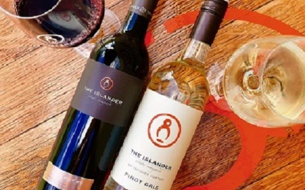 Enjoy wine by the glass at the Islander Estate Tasting Room