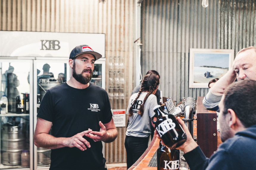 Mike Holden and Nicolas Arriola at Kangaroo Island Brewery